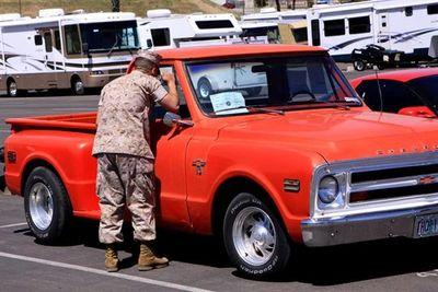 Marine Browsing through a Resale Lot