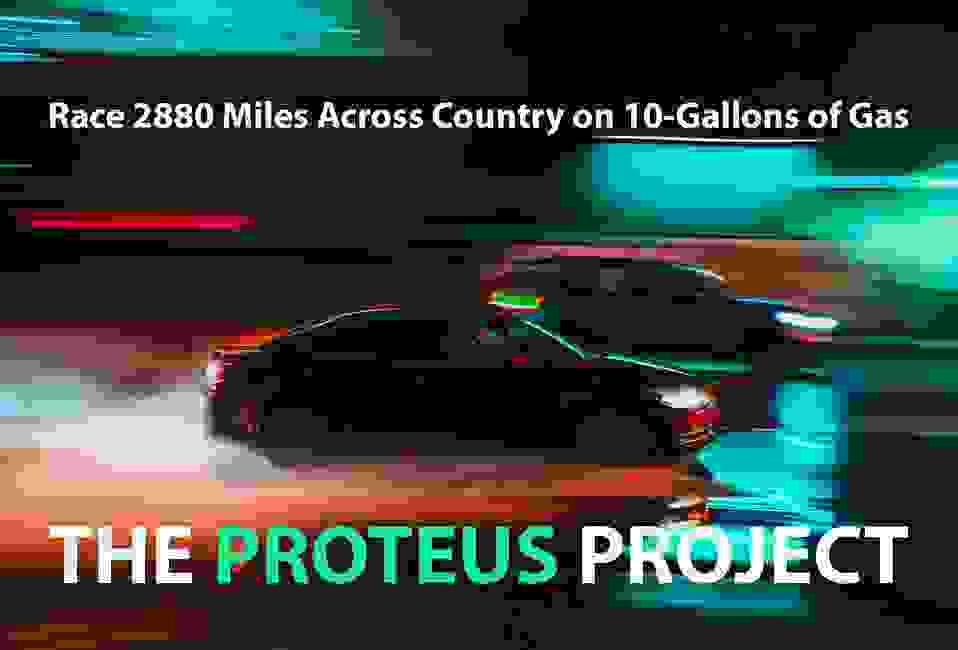 Proteus project is a 3000 mile, cross-country, road rally against top battery-electric cars.