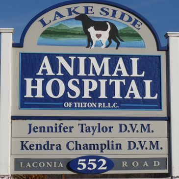 Lake Side Animal Hospital of Tilton, PLLC Sign
