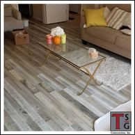 Luxury vinyl plank flooring It's waterproof! Great for kitchens and bathrooms.