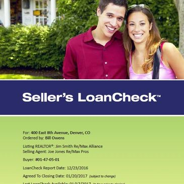 Seller's LoanCheck provides balance in confidence building information.  It's Fair.