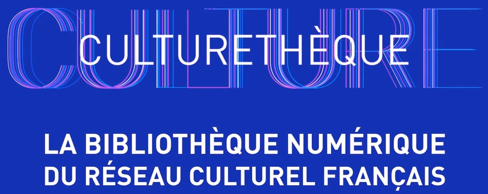 Culturethèque, the free French online library for members of the Alliance Francaise.