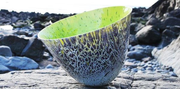 Glass Art Vessel Gregg Anston-Race
