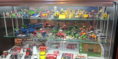Many of the toys we have in the box.  We also have lightly used, used, parts for many toys.