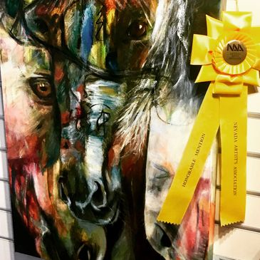 Success at the Northern Nevada Arts Association Nevada Day art contest!