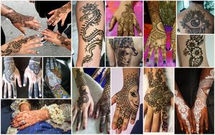Traditional and tribal henna tattoos made from 100% natural henna. Henna  tattoos last 1 -3 weeks.