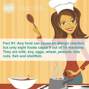 Any food can cause an allergic reacton, but only eight foods cause most. The are milk, soy, eggs, wh