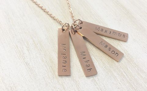 Your children are your pride -- wear this necklace which proudly names each of your precious offspring.