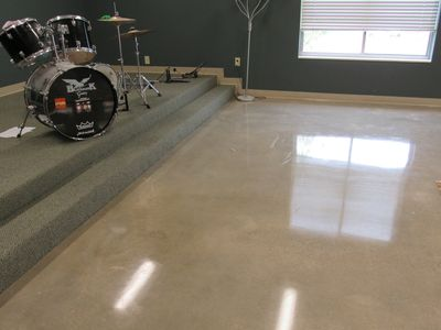 Youth Center's Polished Concrete Floor