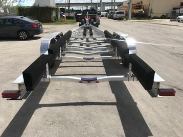 Another 2019 Commercial Boat Trailer 48'Ft. with Electric over Hydraulic Brakes, 3 Axles, 21000 LBS.