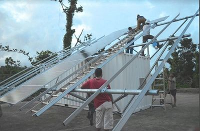 New solar array being installed in Puerto Rico