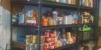 We provide emergency food when the shelter is open.