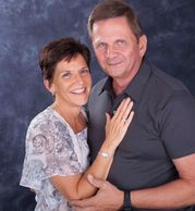 Vicky Le Tellier - Vice Chairperson -Facility Manager with her Husband John.