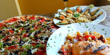 Monty's has homemade Italian cuisine along with delicious pizza that is  served up in Punta Gorda