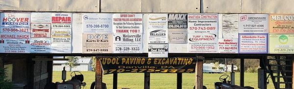 Snyder County Pullers Sponsors