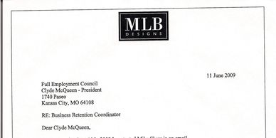 MLB letter of gratitude to Mike Shew