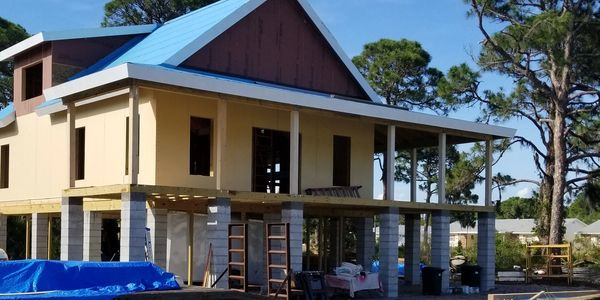 New Panel Homes Building Shell in Englewood Florida