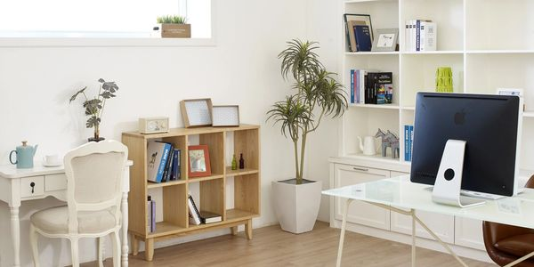 Peaceful organized space clutter-free