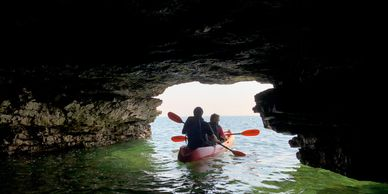 Door County Caves Kayak Tour Lake Michigan Water Cave Point County Park