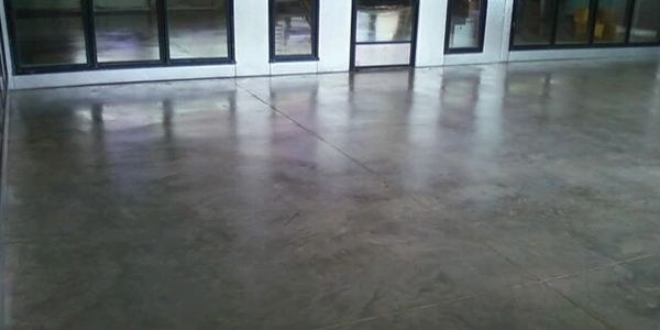Polished concrete floor in a commercial building polished using Xtreme Hard Concrete Densifier