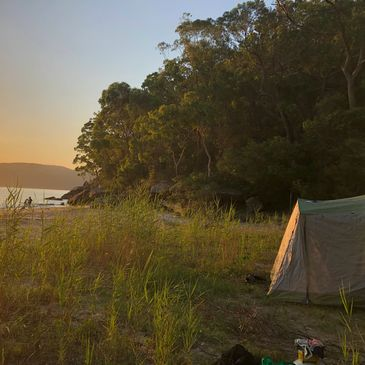 Camping equipment hire sydney guided expedition hawkesbury beach camping romantic present ideas