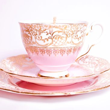 Vintage Tea cup with candle sets for sale