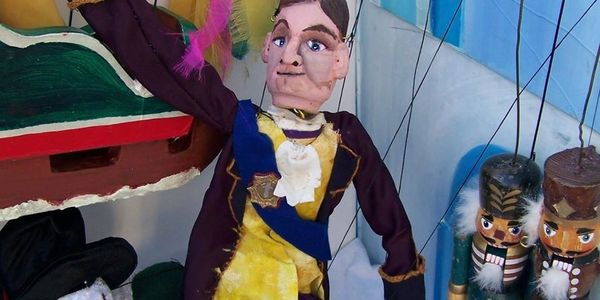 Nutcracker marionette puppet show. Holiday puppet show