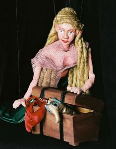 Mermaid marionette puppet from Rosalita's Puppets