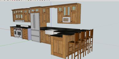 custom kitchen plan