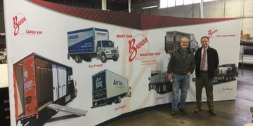 Brown Cargo Trade Show Graphic