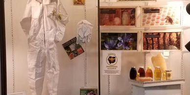 traveling beekeeping display indiana illinois club beekeepers equipment hives educational classes