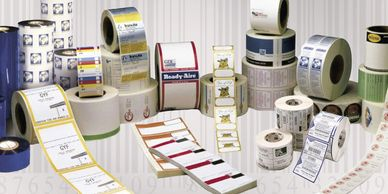 barcode zebra wax, resin, ribbon, label, wristband labels with different sizes, plan and preprinted thermal paper