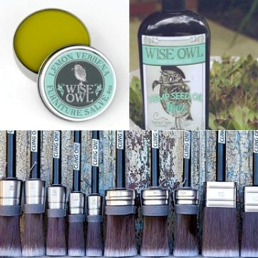 Salve Oil and brushes