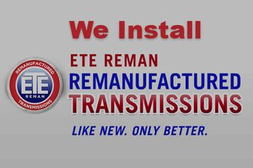 We install ETE REMAN Remanufactured Transmissions
