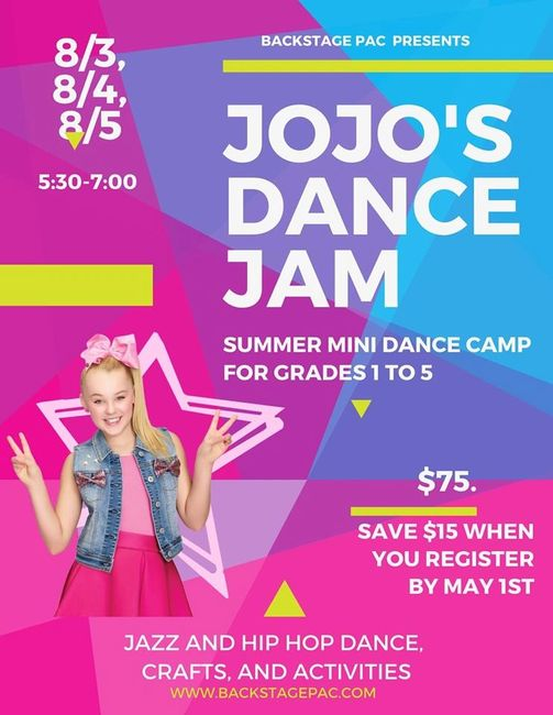 Summer Dance Camp in Rutherford. Dance Classes for Children and Teens. Hip Hop, Jazz, Crafts.