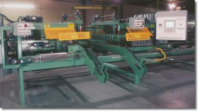 B500 XE automated automatic 5 blade saw.  industrial component roof truss floor truss wall panel PLC