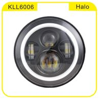 "7"" Round 54/30W Auto LED Halo Lamp Hi/Lo Beam"