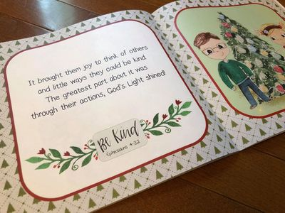 Interior page of The Christmas Kindness Kids Book