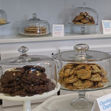 Homemade cookies at The Flour Shop in Kenedy, Texas