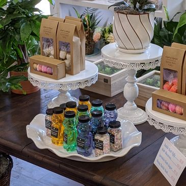 Bubble baths and bath bombs Boutique gifts The Flour Shop in Kenedy, Texas