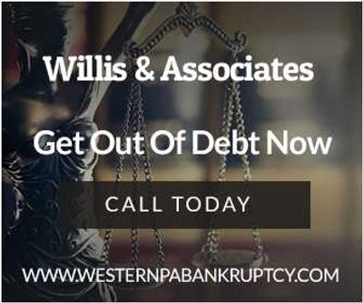 Attorney Lawrence Willis Willis & Associates Bankruptcy Attorney Cranberry Twp Bankruptcy Attorney Low Cost Bankruptcy Attorney Near Me Bankruptcy Attorney Pittsburgh Bankruptcy Attorney  Greensburg Bankruptcy Attorney  Johnstown