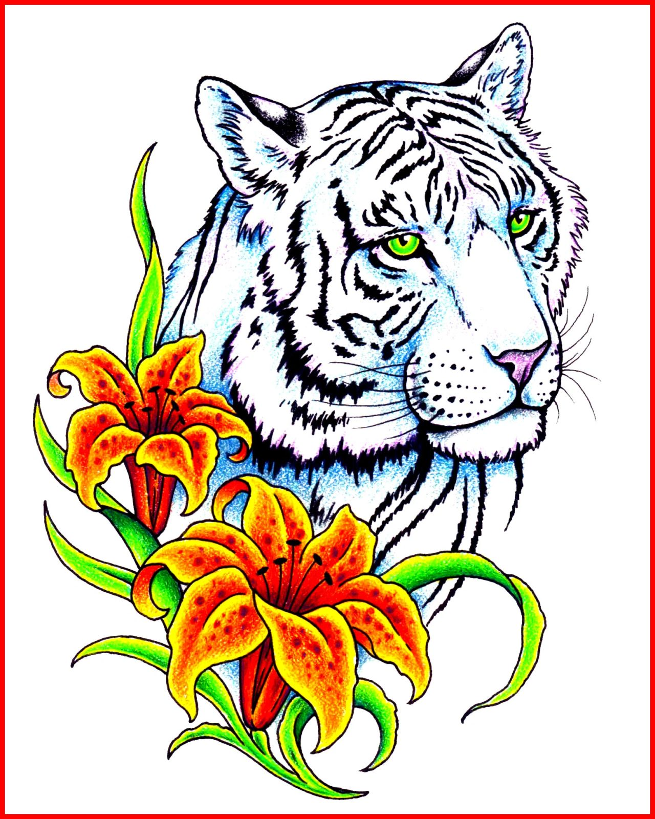 Tiger And White Tiger Tattoos