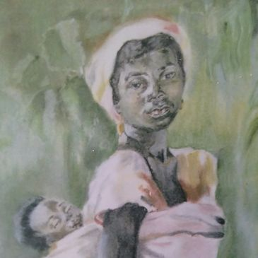 Mother & Child (1994) Soft pastels on cartridge paper J-Art icon image