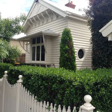 Fresh coat of paint to weatherboards