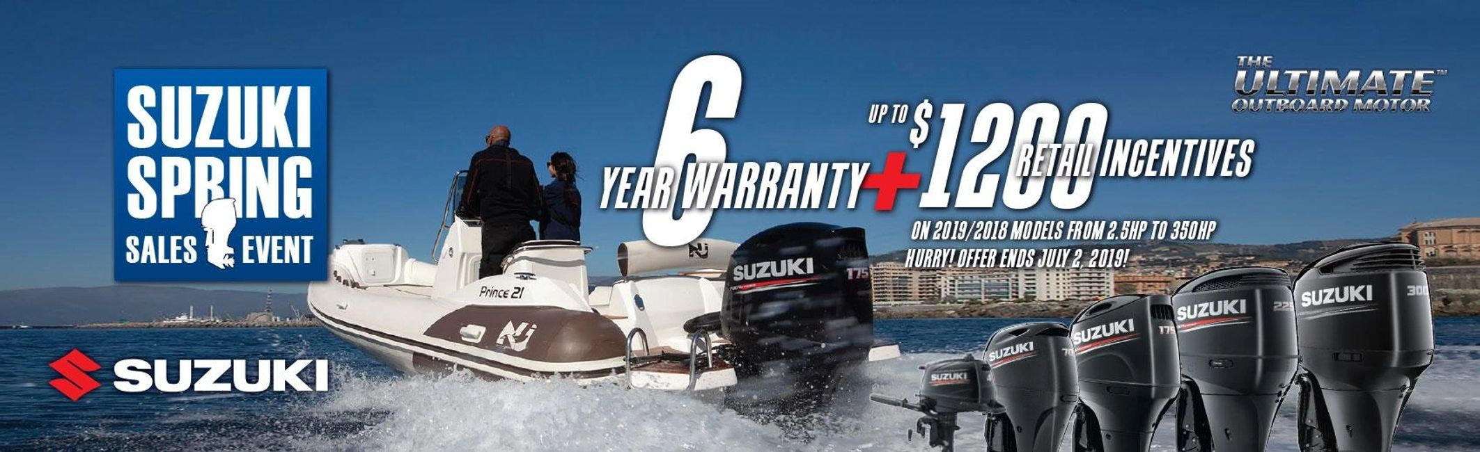 Suzuki Marine Spring Sales Event Extended Warranty and Retail Incentives