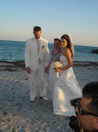 Cape lighthouse wedding Key Biscayne