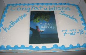 Visitors to the book launch got to enjoy a slice of this cake.
