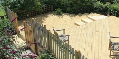 decks, fences, irrigation and landscaping privacy fences, chain link, vinyl fence, retaining walls