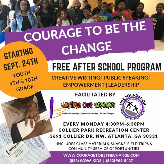 education, youth programs, after school, Writing Our Wrongs, MBK, creative writing, public speaking