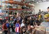 Donations gathered in Large Warehouse to Send to Puerto Rico to Help Hurricane Maria Victims